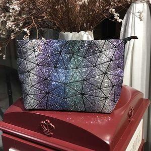 Geometric Iridescent Glitter Premium Handbag NWT